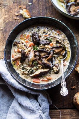 Slow-Cooker-Creamy-Wild-Rice-Soup-with-Butter-Roasted-Mushrooms-1