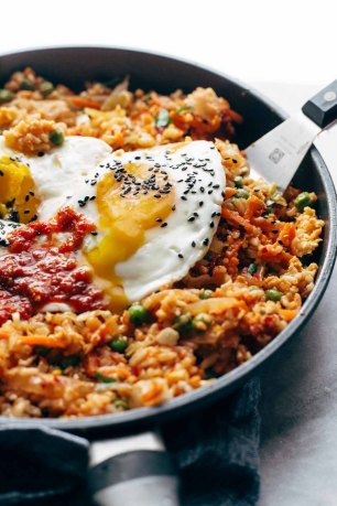 Kimchi-Fried-Rice-in-Pan