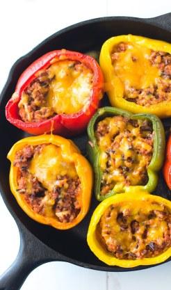 ground-turkey-cast-iron-stuffed-peppers-1