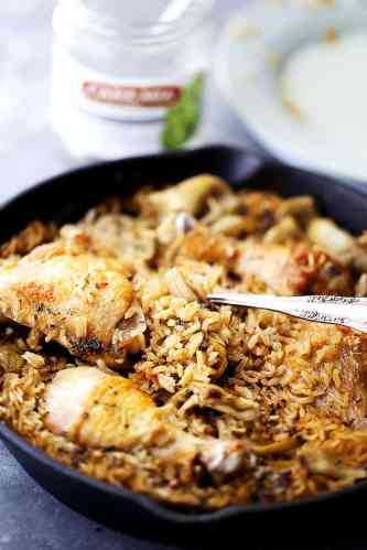 Chicken-Rice-Artichokes
