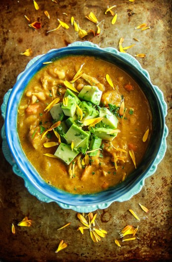 Pumpkin Chicken Chili from HeatherChristo.com (Dairy and Gluten