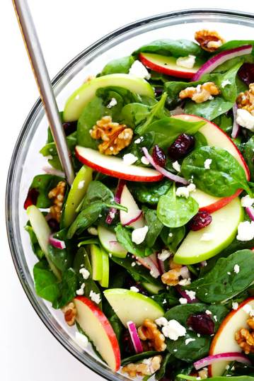 Easy-Apple-Spinach-Salad-Recipe-Vegetarian-Fall-Vinaigrette-1