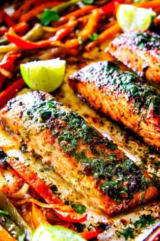 Sheet-Pan-Fajita-Salmon-with-Cilantro-Lime-Butter-8